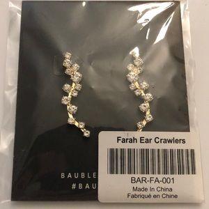 BaubleBar Farah Ear Crawlers NEW Earrings